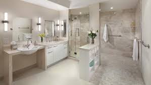 white and tan bathroom with large walk-in shower