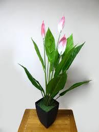 office pot plants. Artificial Potted Plants- 97cm Large Pink Peace Lily Plant In Black Plastic Pot-House Office Pot Plants