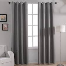 modern solid blackout curtains for bed room living room window curtain ds shades window treatments gray cream purple brown in curtains from home