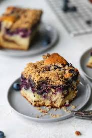 This blueberry coffee cake is tender, moist, and bursting with fresh summer blueberries! Blueberry Coffee Cake Seasonal Blueberry Cake Recipe