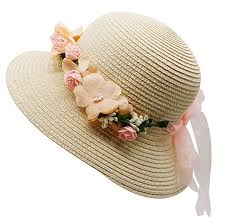 Lovful <b>Fashion Flower</b> Décor Lace Ribbon Wide Brim Caps Summer ...