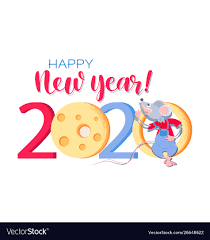chinese new year card 2020 chinese new year 2020 greeting card with funny rat