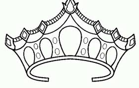 Small Picture Drawing of Princess Crown Coloring Page NetArt