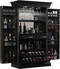 black wine cabinet. Image Is Loading Ashley-Heights-Black-Stain-Home-Bar-Wine-Cabinet Black Wine Cabinet N