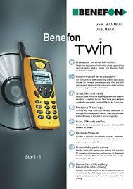 Benefon Twin datasheet - DualSimSmartphones