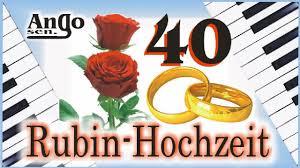 Rubin Hochzeit 40 Jahre Ehe Jubiläum Hochzeitslied Youtube
