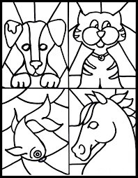 Small Picture Stained Glass Coloring Pages coloringsuitecom