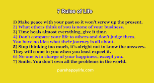 Life Quote 40 Rules Of Life And That Will Lead You To Happiness Unique 7 Rules Of Life Quote
