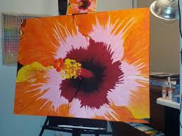 image of easy acrylic painting ideas flowers