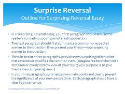 informative and surprising essay topics  fawmyfreeipme informative essay using the surprise reversal strategy professor in a surprising reversal essay your first paragraph
