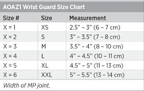 Aoaz1 Wrist Guard Size Chart Breg Inc