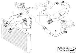 Bmw cooling system water hoses