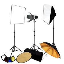 photography 3 monolight strobe softbox flash lighting kits w barndoor reflector case