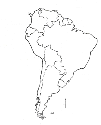 South America Outline Map Color Fieldstation Co Estarte Me
