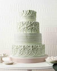 Quilted Wedding Cakes | Martha Stewart Weddings & Wedding Cake with Rings Adamdwight.com