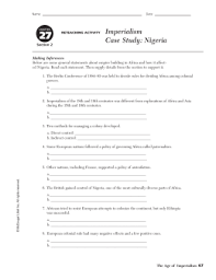 Modern World History Chapter     Section   Imperialism Case     SlidePlayer Northern Nigeria is a geographical region of Nigeria