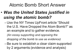 the atomic bomb part of chapter section topic the atomic  20 atomic bomb