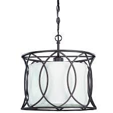 canarm monica ipl320a01orb14 1 lt pendant white fabric shade canarm ich320a03orb20 monica 3 light chandelier oil rubbed bronze