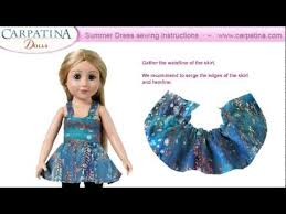 American Girl Clothes Patterns Fascinating Free Summer Dress Pattern Sewing Instructions For 48 Inch Dolls By