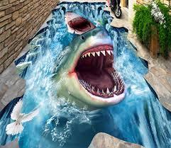 shark wallpaper 3d. Simple Shark 3D Sharks Floor Mural  AJ Walls 1 And Shark Wallpaper 3d L