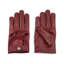 bullitt burdy red leather gloves women s