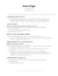 Objective Statement On Resume Good Objectives For Resumes For Students Resume Sample Objective