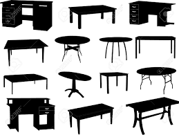 desk clipart black and white. Collection Of Tables Silhouettes Stock Vector Furniture Desk Office Marvelous Table Clipart Black And White Images W