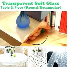 heavy duty clear table protector affordable plastic cover transpa vinyl tablecloth crystal