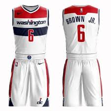 White 2 Cheap Washington Basketball Edition Jersey Association Suit Brown Wizards Jr Women's Swingman 6 Troy