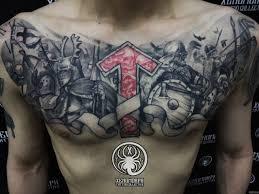 20 карточек в коллекции русские и славянские цветные татуировки