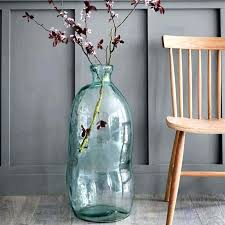 glass floor vase giant glass vases for the floor recycled clear tall bubble glass vase giant glass floor vase large