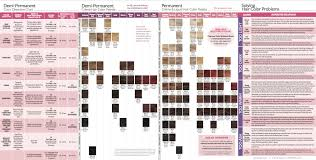 Schwarzkopf Demi Permanent Hair Color Chart 52 Exact Ion Blonde Hair Color Chart