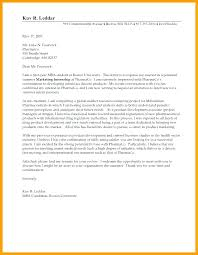Sample Internship Cover Letters For College Students Nutrition And