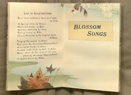 kenneth spencer research library blog sword and blossom poems picture of blossom songs half title list of illustrations from volume 2