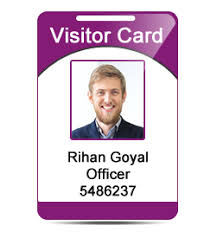 Software Visitor Card Record Visitor's Id Maintain Design