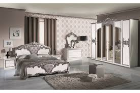Barock Schlafzimmer Leandra In Weißsilber 6 Teilig 6 Türig Kaufen