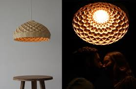 woven bamboo veneer pendant lighting by edward linacre pictures