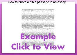 How To Quote The Bible Adorable How To Quote A Bible Passage In An Essay Homework Service