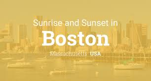 Sun Up Sun Down Chart Sunrise And Sunset Times In Boston