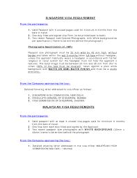 Covering Letter For Visa Application Singapore Sample Eursto Com