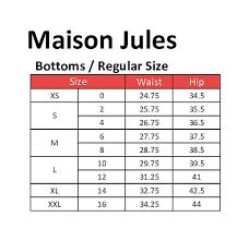 Maison Jules Size Chart Details About Maison Jules 5630 Size 8 New White Solid Culottes Pants Sailor Button Detail 59