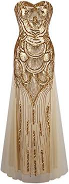 Angel-fashions <b>Women's Strapless Dress</b> Vintage Gatsby: Amazon ...