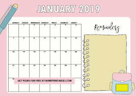 Free Printable School Calendar Free School Year Calendar For 2018 To 2019 For Students And Teachers