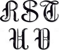 アルファベット文字 R S T U V Serif 文字 アルファベットのベクター