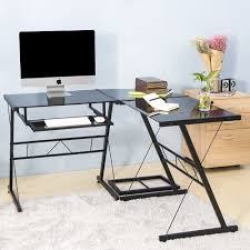Desk Glass And Chrome Desks For Home Office Glass Top Pc Desk