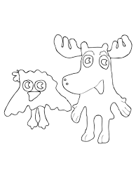 Small Picture Free Printable Moose Coloring Pages For Kids Moose Coloring Pages