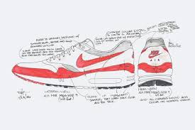 nike shoes drawings. tinker hatfield\u0027s original nike air max 1 drawings showing how the pocket would work shoes r