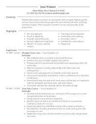 Example Of Server Resume Resume Waitress Example Cocktail Waitress ...