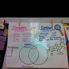 9 Compare And Contrast Anchor Chart Use Double Bubble Chart
