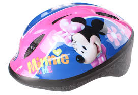 Disney Childrens Helmet With Pads Minnie Mouse Girls Pink 5 Piece